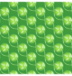 seamless abstract grass leaf background vector image vector image
