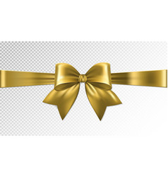 Shiny gold satin ribbon on transparent background vector