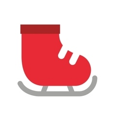 Skate ice isolated icon vector