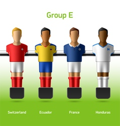 Table football foosball players vector image
