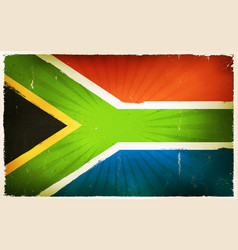 Vintage south africa flag poster background vector