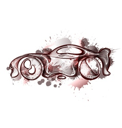 Watercolor concept car vector image