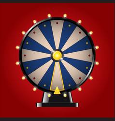 Wheel of fortune - realistic modern image vector