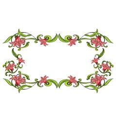 Flowery border vector image