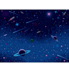 Horisontal cosmic background vector
