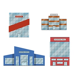 Set of store shopping mall icons vector