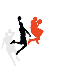 Basketballer dunking vector image