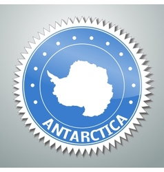 Antarctic flag label vector