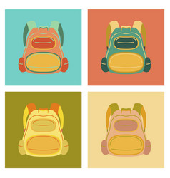 Assembly flat icons fashionable bag vector