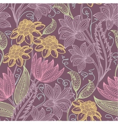 Colorfull seamless floral background vector image