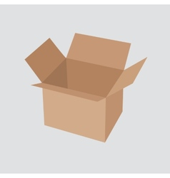 Recycle brown box packaging vector image
