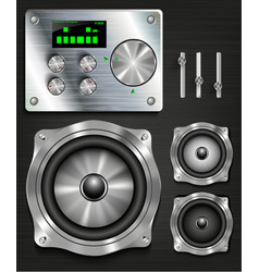 Management console speaker system vector