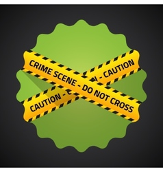 Police barricade tape flat icon background vector