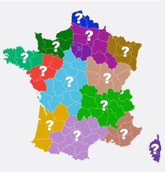 New French regions Nouvelles regions de France vector image
