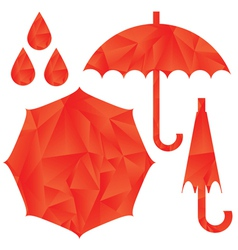 Red umbrella vector