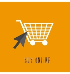 Shopping cart buy online vector