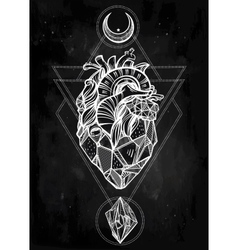 Heart of stone art vector