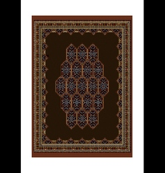 Luxury motley carpet with bright ornaments vector