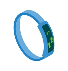 Fitness tracker icon isometric 3d style vector image