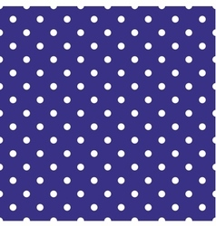 Tile pattern with white polka dots on blue vector