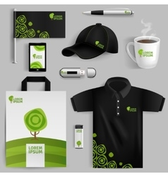 Decorative elements of eco corporate identity vector