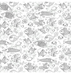 Background underwater world seamless pattern with vector