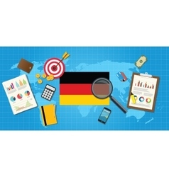 Germany economy economic condition country with vector