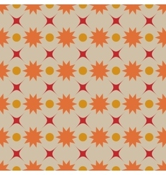 Flower and star seamless pattern vector
