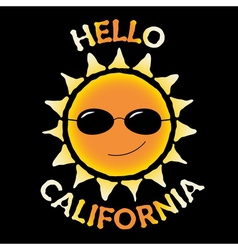 T shirt typography quote hello california vector