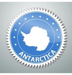 Antarctic flag label vector image