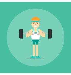 Athletic young man doing exercise vector