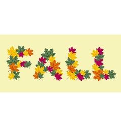 Autumn leaves written texture vector