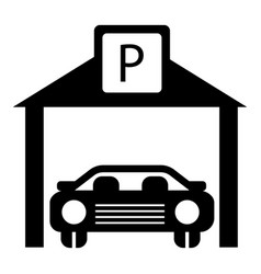 Car parking icon simple style vector