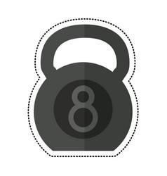 Cartoon kettlebell fitness gym sport vector