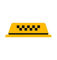 checker taxi cab vector image vector image