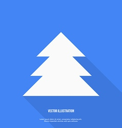 Christmas tree Flat design vector image