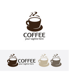 coffee cafe logo vector image vector image