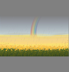 Colorful beautiful field landscape background vector