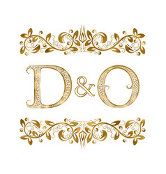 D and o vintage initials logo symbol the letters vector