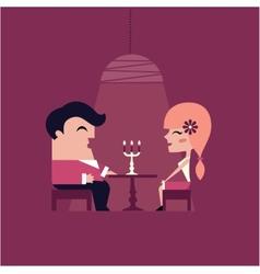 date dinner vector image