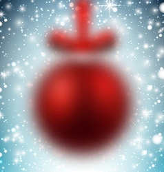 Defocused red christmas ball vector image