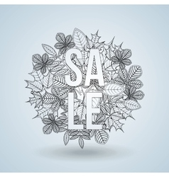 Fall sale design vector