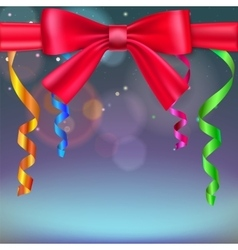 Festive blurred background vector image vector image