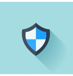 Flat shield protection icon vector image vector image
