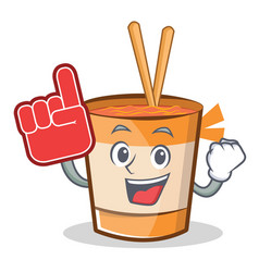Foam finger cup noodles character cartoon vector