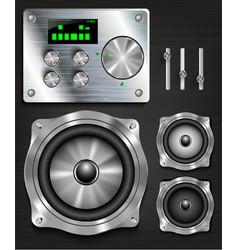 Management console speaker system vector