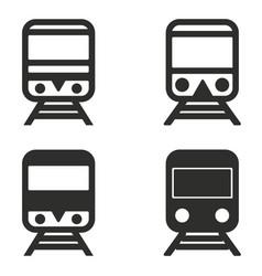 metro icon set vector image vector image
