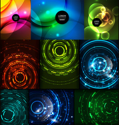 neon glowing backgrounds vector image vector image