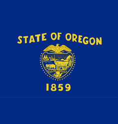 oregon state flag vector image vector image