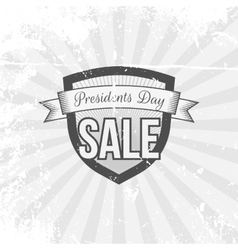Presidents day sale shield and ribbon vector